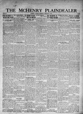 McHenry Plaindealer (McHenry, IL), 9 Feb 1933