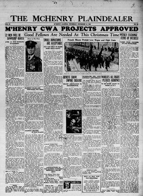 McHenry Plaindealer (McHenry, IL), 14 Dec 1933