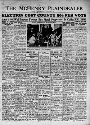 McHenry Plaindealer (McHenry, IL), 15 Nov 1934