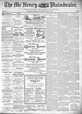 McHenry Plaindealer (McHenry, IL), 15 May 1895