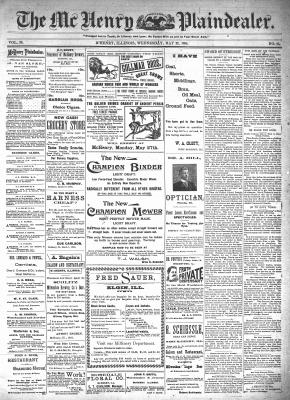 McHenry Plaindealer (McHenry, IL), 22 May 1895
