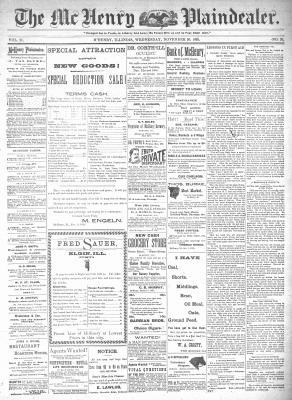 McHenry Plaindealer (McHenry, IL), 20 Nov 1895