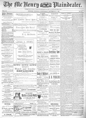 McHenry Plaindealer (McHenry, IL), 9 Sep 1896
