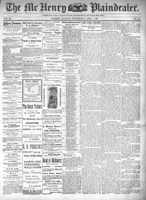 McHenry Plaindealer (McHenry, IL), 7 Apr 1897