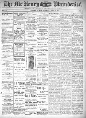 McHenry Plaindealer (McHenry, IL), 21 Apr 1897