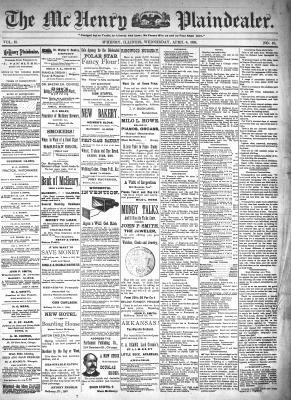 McHenry Plaindealer (McHenry, IL), 6 Apr 1898