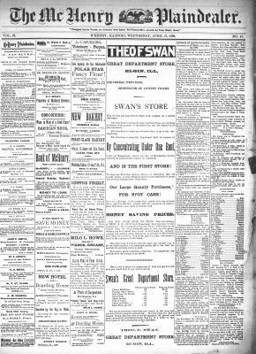 McHenry Plaindealer (McHenry, IL), 27 Apr 1898