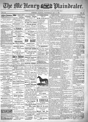 McHenry Plaindealer (McHenry, IL), 11 May 1898