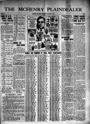 McHenry Plaindealer (McHenry, IL), 31 Oct 1940