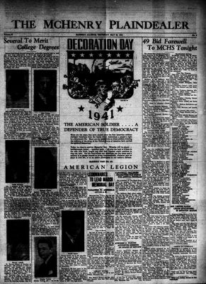 McHenry Plaindealer (McHenry, IL), 29 May 1941