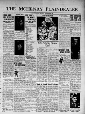 McHenry Plaindealer (McHenry, IL), 16 Sep 1943