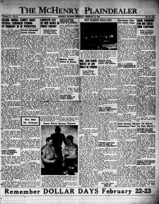 McHenry Plaindealer (McHenry, IL), 21 Feb 1952