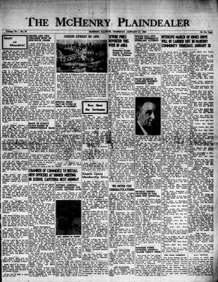 McHenry Plaindealer (McHenry, IL), 21 Jan 1954