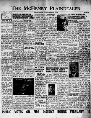McHenry Plaindealer (McHenry, IL), 11 Feb 1954