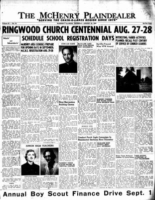 McHenry Plaindealer (McHenry, IL), 25 Aug 1955