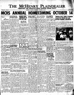 McHenry Plaindealer (McHenry, IL), 13 Oct 1955