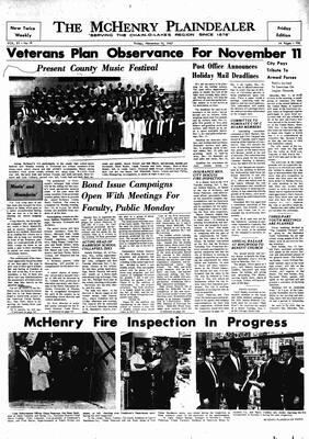 McHenry Plaindealer (McHenry, IL), 10 Nov 1967