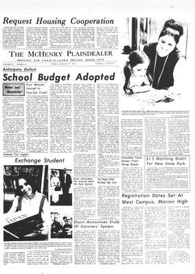 McHenry Plaindealer (McHenry, IL), 13 Aug 1971