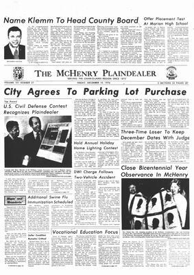 McHenry Plaindealer (McHenry, IL), 10 Dec 1976
