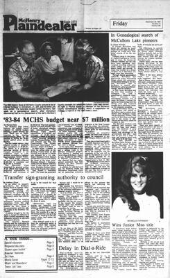McHenry Plaindealer (McHenry, IL), 30 Sep 1983