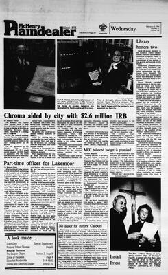 McHenry Plaindealer (McHenry, IL), 22 Feb 1984
