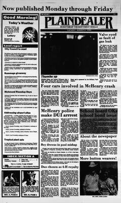 McHenry Plaindealer (McHenry, IL), 6 Aug 1985