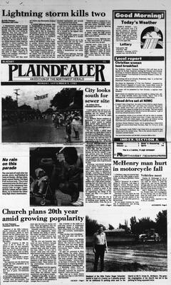 McHenry Plaindealer (McHenry, IL), 9 Sep 1985