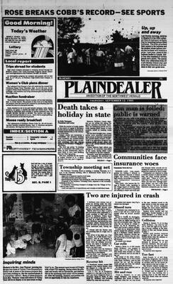 McHenry Plaindealer (McHenry, IL), 12 Sep 1985