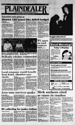 McHenry Plaindealer (McHenry, IL), 26 Sep 1985