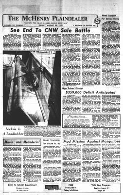 McHenry Plaindealer (McHenry, IL), 20 Aug 1982