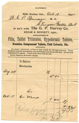 Ordonnance prescription / Prescription statement