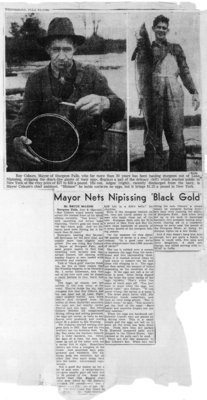 "Mayor Nets Nipissing ""Black Gold"""