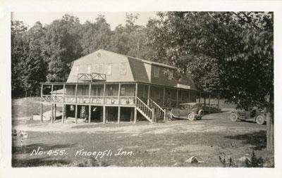 Postcard No 455 of the Knoepfli Inn, circa 1930