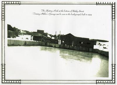 The Skating Rink, bottom of Biddy Street, Magnetawan, 1934