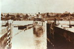 The Armour Pulling into the Boat Lock, circa 1905