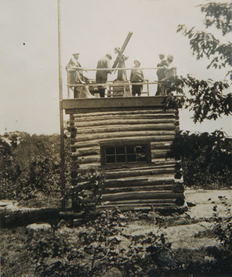 Dr. Kelly and Friends Prepare for Stargazing at the Evening House, circa 1920