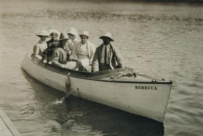 Dr. Cullen and Friends in the Rebecca, 1922