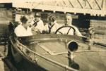 Edmund Kelly and Relatives, at a Bridge on the Magnetawan River, circa 1910
