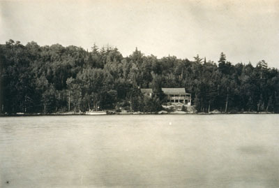 View of Ojibway Cabin, 1920