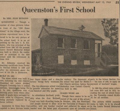 Queenston's First School