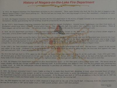 History of Niagara-on-the-Lake Fire Department
