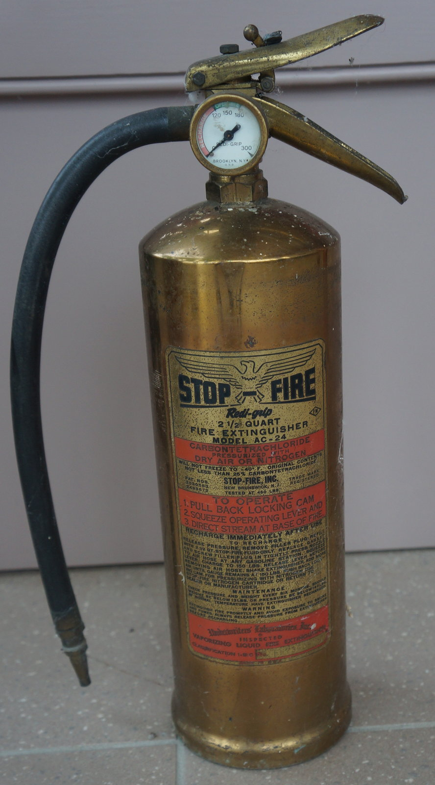 Stop-Fire fire extinguisher
