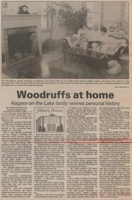 Woodruffs at home. Niagara-on-the-Lake family revives personal history