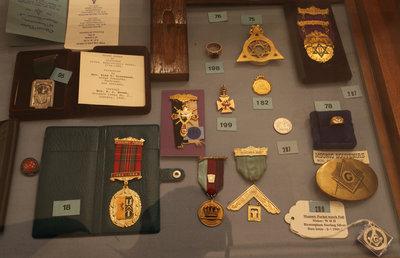 Various masonic memorabilia, Niagara Lodge No. 2