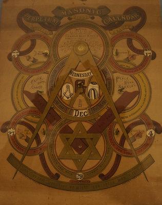 Perpetual Masonic calendar