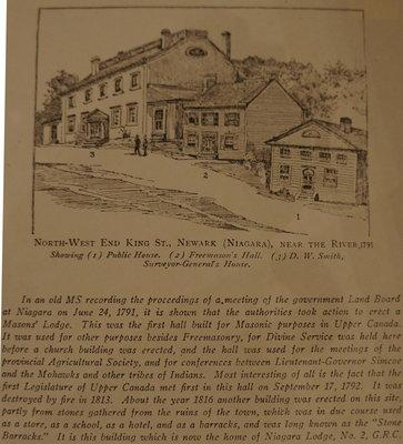 Freemasons' Hall in Niagara (Newark), 1791
