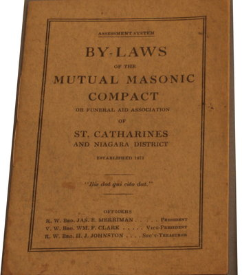 By-Laws of Mutual Masonic Compact or Funeral Aid Association of St. Catharines and Niagara District