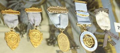 Various masonic medals, Niagara Lodge No. 2