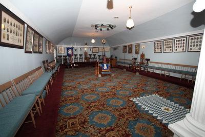 Masonic Hall in Niagara-on-the-Lake - The Lodge Room