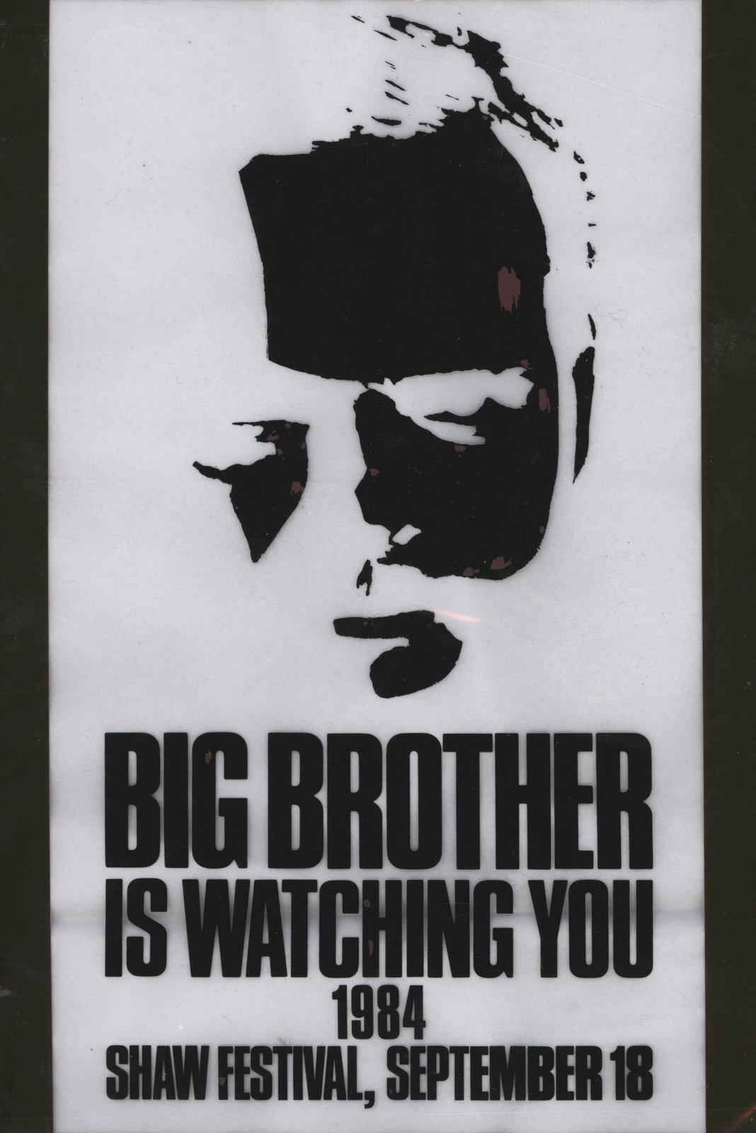 """Transparencies for """"Nineteen Eighty-Four"""" at the Shaw Festival Theatre"""